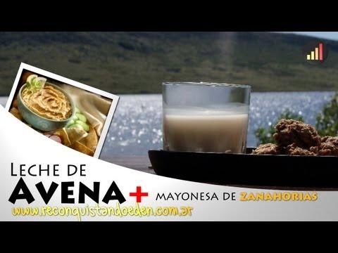 Leche de Avena y Mayoneza de Zanahorias